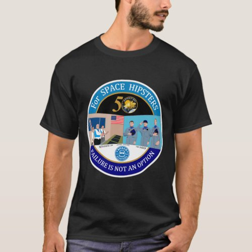 Space Hipsters Apollo 13 50th anniversary t_shirt