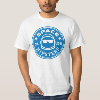 Space Hipsters� Men's Logo Tee (White)