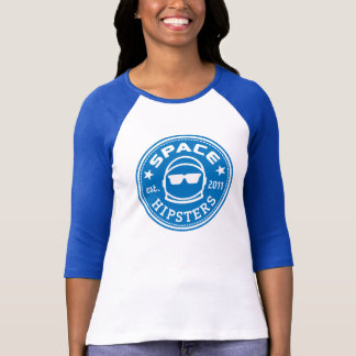 Space Hipsters® Women's Logo 3/4 Sleeve Jersey T-Shirt