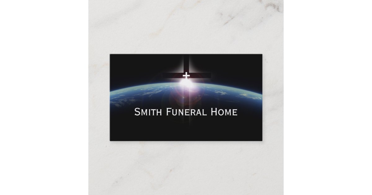 Space Holy Cross Light Funeral Home Business Card Zazzle Com