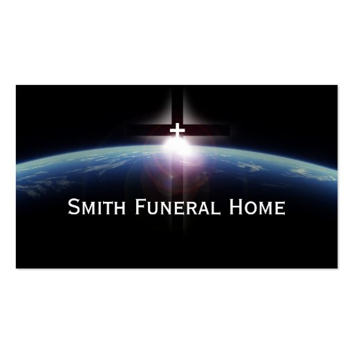 Space Holy Cross Light Funeral Home Business Card Zazzle