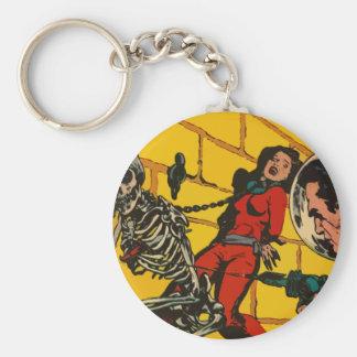 Space Horror - Vintage Science Fiction Comic Art Key Chains