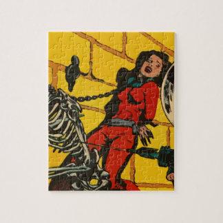 Space Horror - Vintage Science Fiction Comic Art Jigsaw Puzzles
