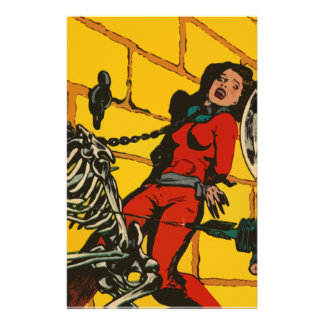 Space Horror - Vintage Science Fiction Comic Art Stationery