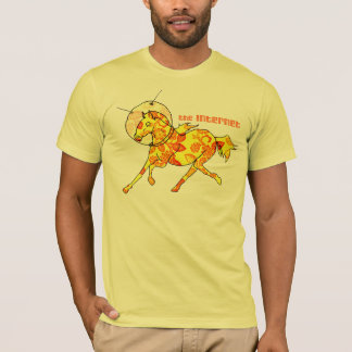 Space Horse Orange T-Shirt