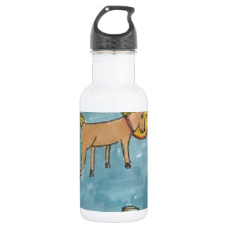 Space Horse Planet 18oz Water Bottle
