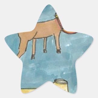 Space Horse Planet Star Sticker