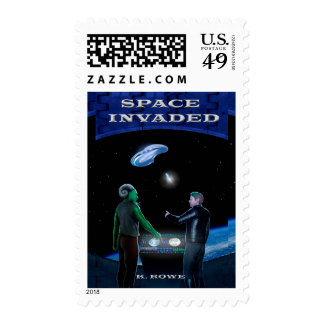 Space Invaded postage