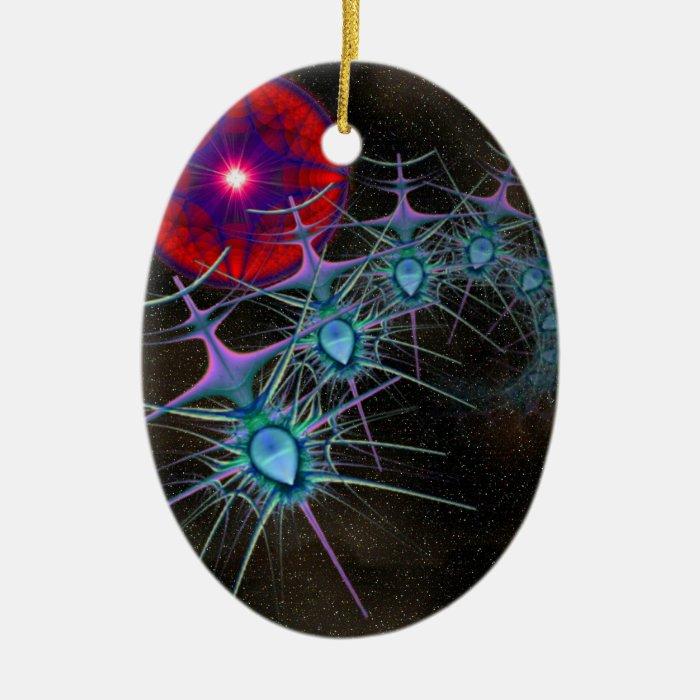 Space Invaders Ceramic Ornament