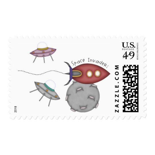 Space Invaders! Postage