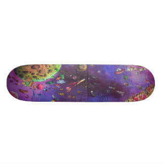 Space Invaders Skateboard - Detail