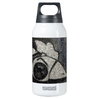 Space invading rubber chicken insulated water bottle