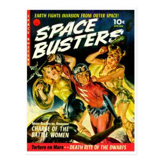 Space Invasion of Beautiful Alien Women Postcard