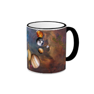 Space is our destiny ringer mug