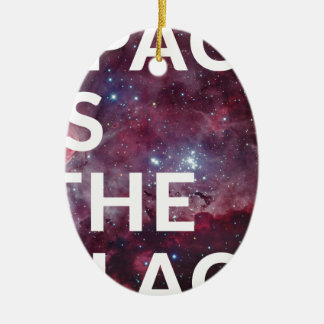 Space Is The Place Fun Big Planet Ceramic Ornament