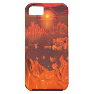 Space Islands of Orange iPhone 5 Cases