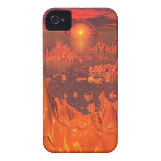 Space Islands of Orange iPhone 4 Case-Mate Case