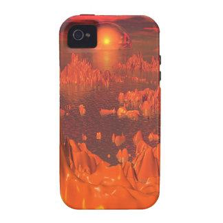 Space Islands of Orange Vibe iPhone 4 Case