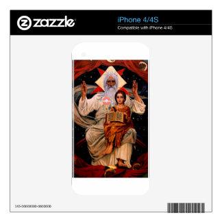 Space Jesus Decals For iPhone 4