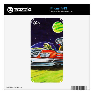 SPACE JET CAR SKINS FOR iPhone 4