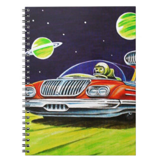 SPACE JET CAR SPIRAL NOTEBOOK