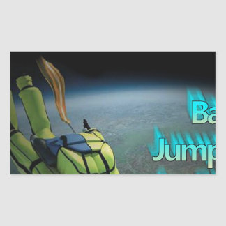 Space Jumping - Base Jumping is for Sissy's Rectangular Sticker