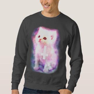 Space Kitten With Inverted cross Sweatshirt