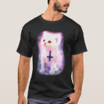 Space Kitten With Inverted cross T-Shirt