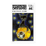 Space kitty and mouse postage