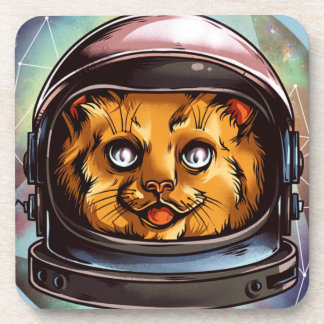 Space Kitty will boldly go..... Beverage Coaster