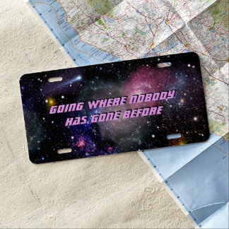 Space License Plate