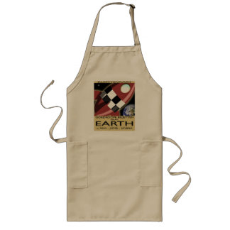 Space Liner Advertisement Aprons