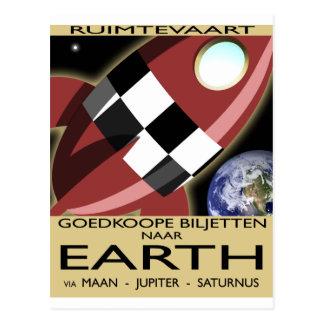 Space Liner Advertisement Postcard