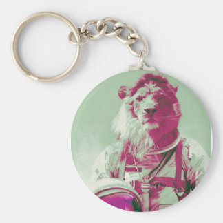 space lion key chain