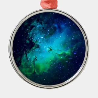 Space -m16 Nebula Metal Ornament