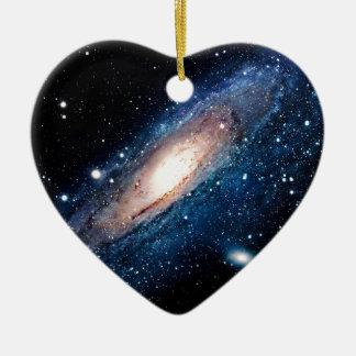 Space m31 spyral galaxy ceramic ornament