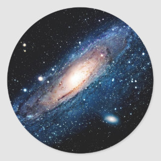 Space m31 spyral galaxy classic round sticker