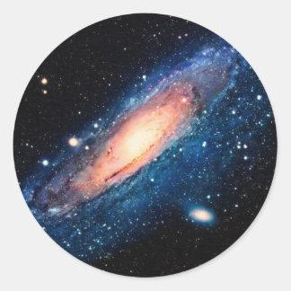 Space -m31 spyral galaxy classic round sticker