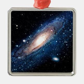 Space m31 spyral galaxy metal ornament