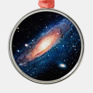Space -m31 spyral galaxy metal ornament