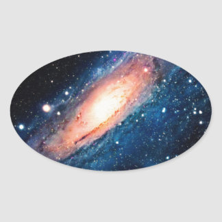 Space -m31 spyral galaxy oval sticker