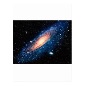 Space -m31 spyral galaxy postcard