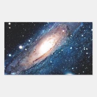 Space m31 spyral galaxy rectangular sticker