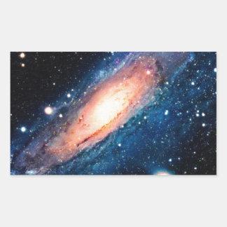 Space -m31 spyral galaxy rectangular sticker