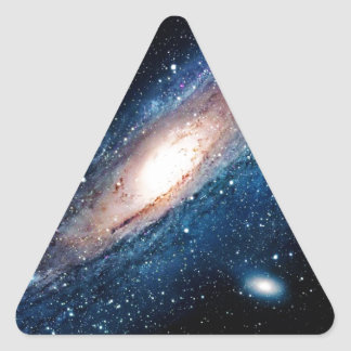 Space m31 spyral galaxy triangle sticker