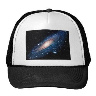 Space m31 spyral galaxy trucker hat