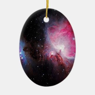 Space M42  Great Orion Nebula  Ghost Nebula Ceramic Ornament