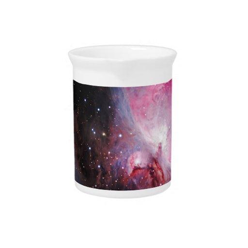 Space M42  Great Orion Nebula  Ghost Nebula Beverage Pitcher
