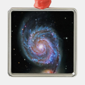 Space M51 Whirlpool Galaxy Metal Ornament