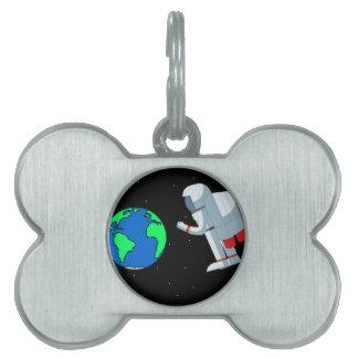 Space Man Pet ID Tag